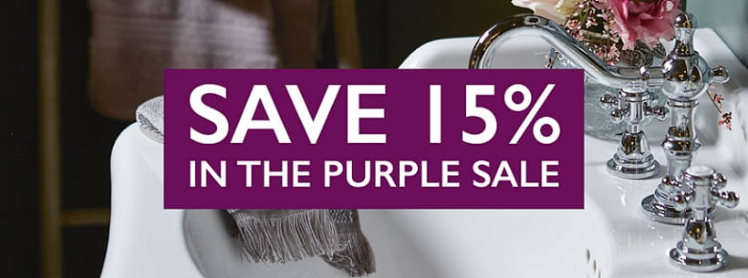 Save 15% in the Purple Sale