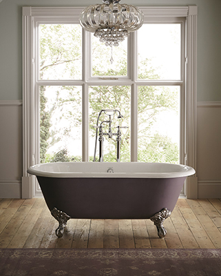 Baby Buckingham freestanding cast iron bath from Heritage Bathrooms
