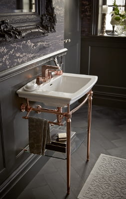 rose gold washstand from Heritage Bathrooms UK