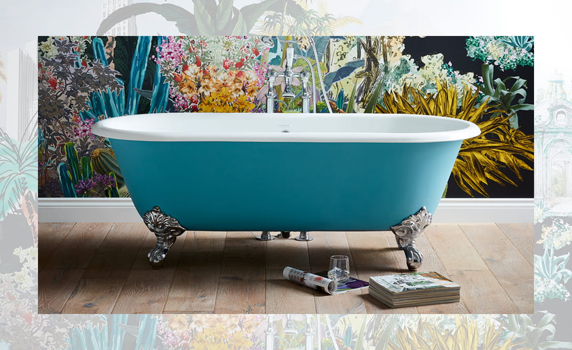Buckingham Cast Iron Bath in blue