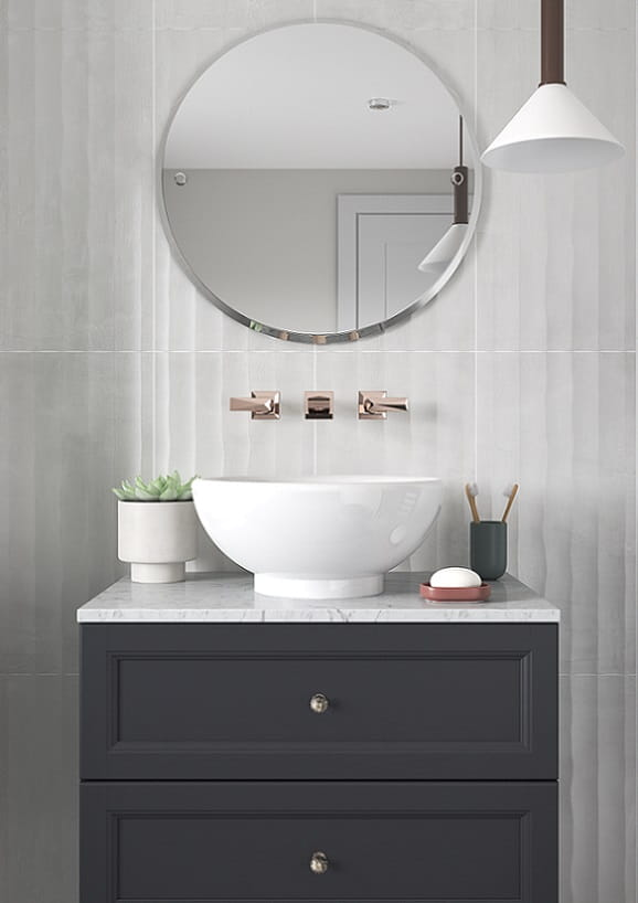 Caversham Graphite Wall Hung Vanity Unit with Chiswick Vessel Basin