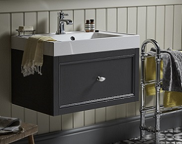 Caversham Wall Hung Vanity Unit in Graphite