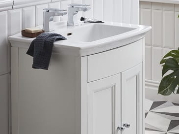 Caversham Vanity Unit in White Ash and Blenheim Basin