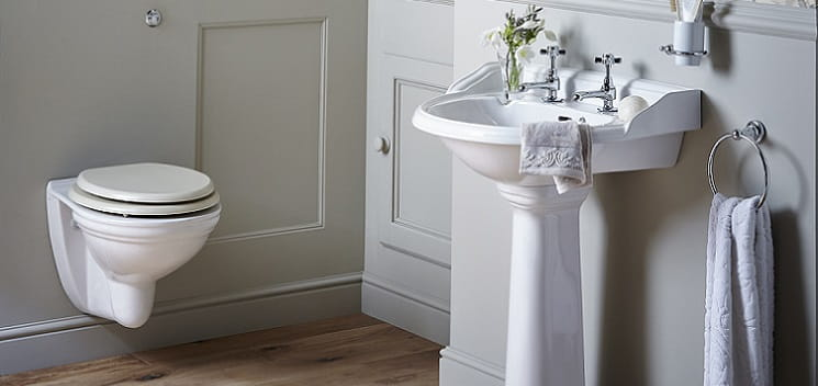 Dorchester basin and wall hung WC