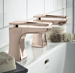 Hemsby Basin Taps in Rose Gold