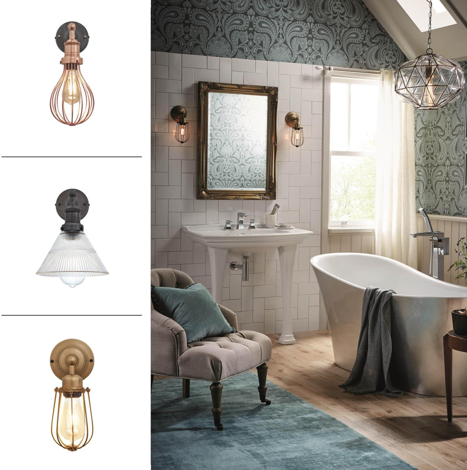 Heritage Bathrooms and Industville bathroom lighting