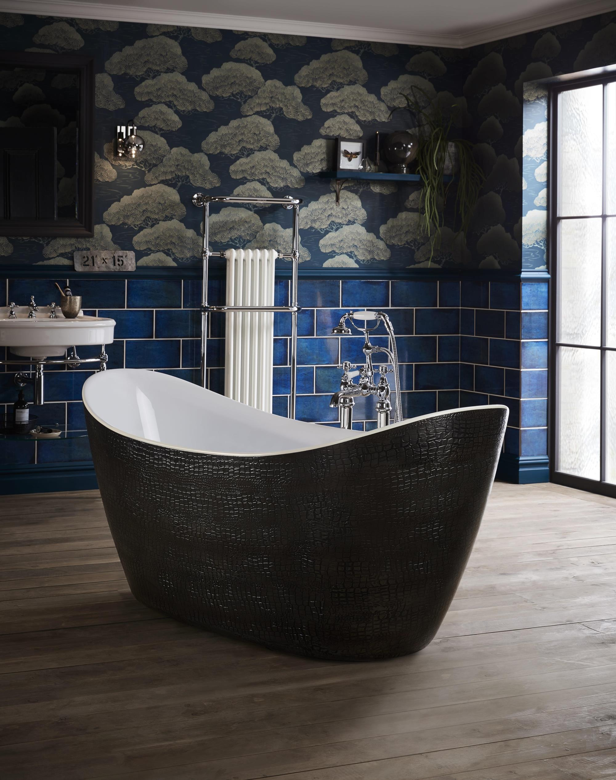 Alderley Leather Effect Freestanding Acrylic Bath