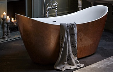 Hylton metallic effect acylic bath