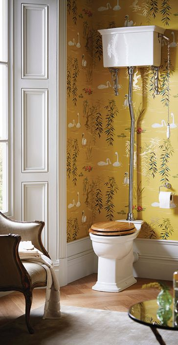 In french rococo style the Blenheim high level wc