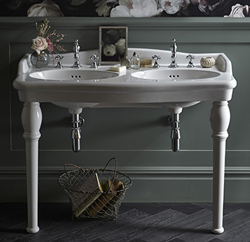 Victoria Collection Double console basin
