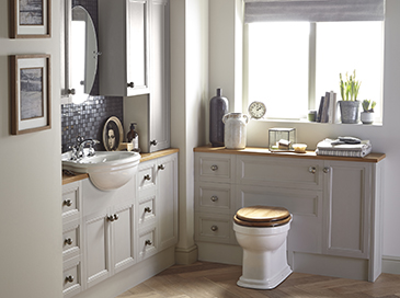 Caversham fitted furniture by Heritage Bathrooms