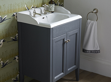 Freestanding Caversham furniture from Heritage Bathrooms