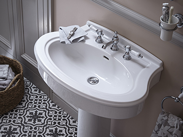 Glastonbury Collection basin by Heritage bathrooms