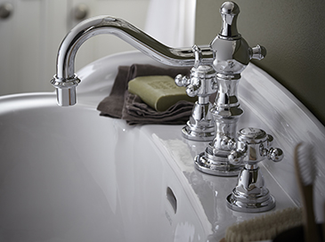 Hartlebury Collection basin from Heritage Bathrooms