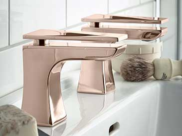 Rose Gold timited edition taps from Heritage Bathrooms
