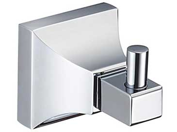 Rhyland chrome robe hook from Heritage Bathrooms