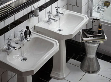 Granley Deco basins from Heritage Bathrooms