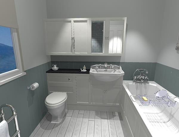 Before Heritage bathroom