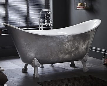Lyddington Metallic Effect Cast Iron Bath