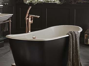 floorstanding bath shower mixer by Heritage Bathrooms