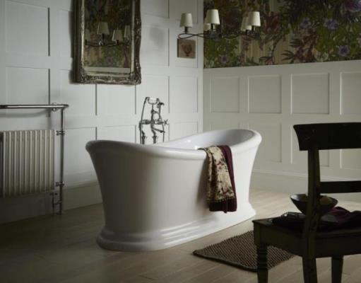 Heritage Bathrooms Orford acrylic bath with Dawlish bath shower mixer