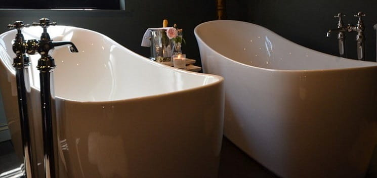 Twin Polperro Slipper Baths
