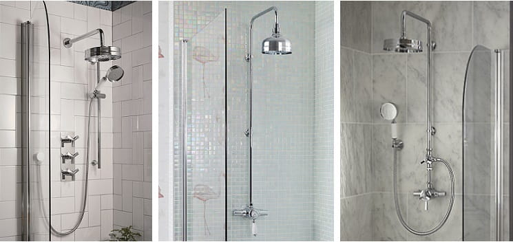 Hemsby, Ryde and Gracechurch shower options