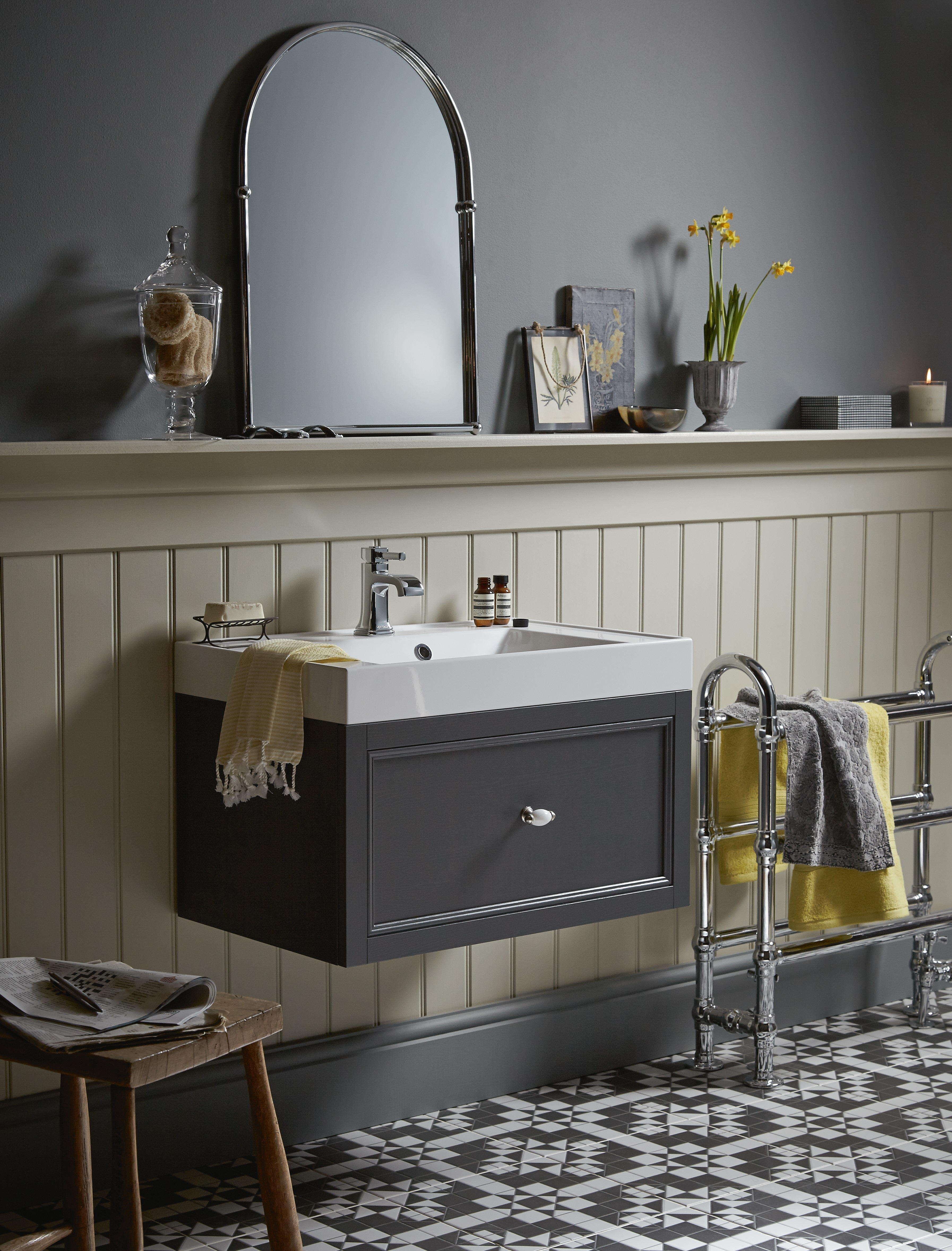 Wall Hung Caversham Vanity Unit from Heritage Bathrooms