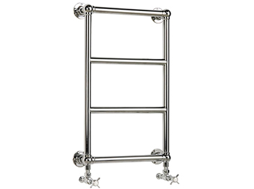 Portland Wall-Mounted Heated Towel Rail Chrome
