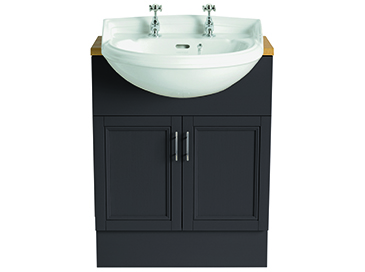 Dorchester Semi-Recessed Medium Basin 1 taphole