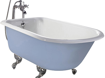 Wessex Cast Iron Bath With Tap Holes White