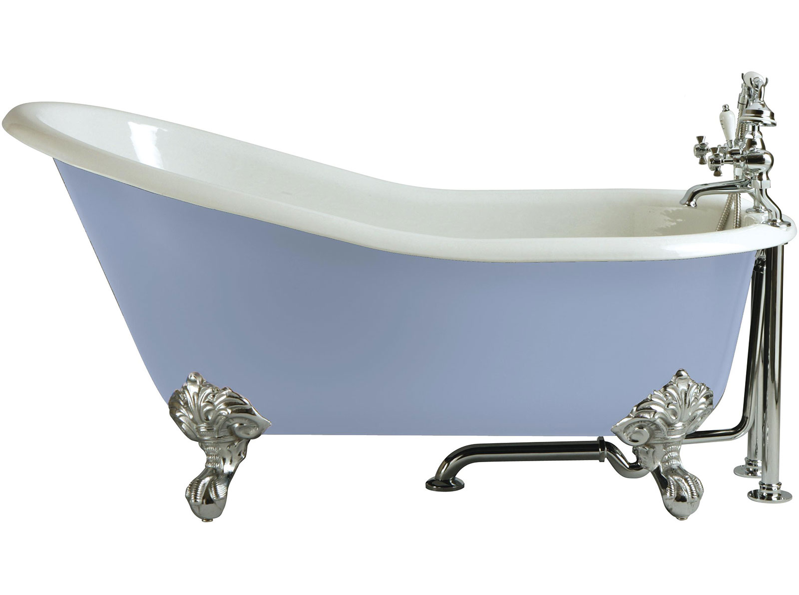 Kent Cast Iron Slipper Bath No Tap Hole Freestanding  Baths Heritage