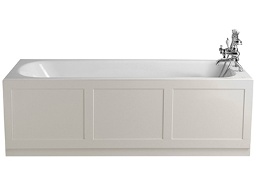 Sutherland Bath With Tap Holes White