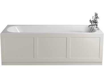 Grampian Bath With Tap Holes White