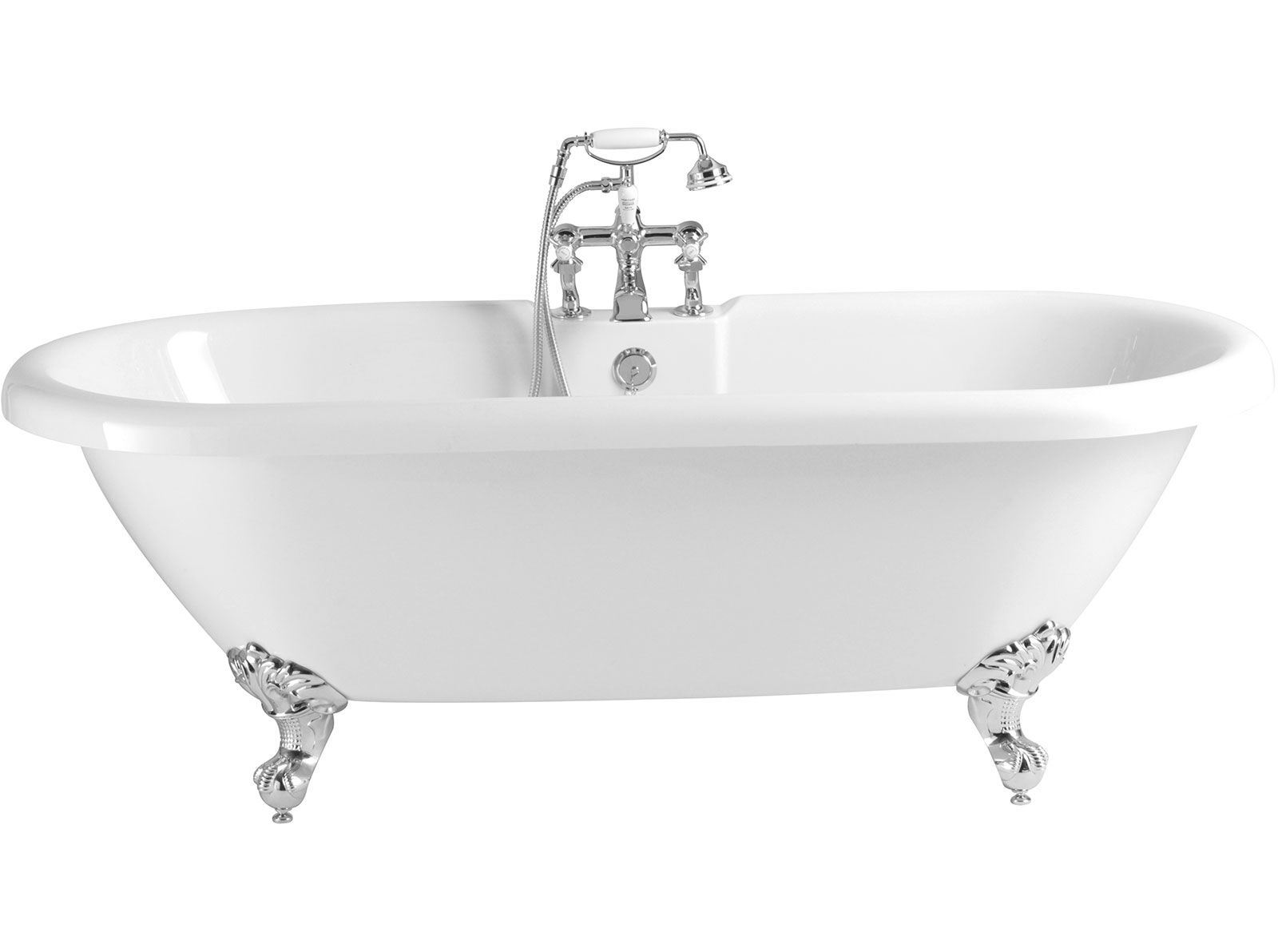 Oban Freestanding Acrylic Double Ended Roll Top   Freestanding ...