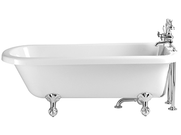 Perth Single Ended Roll Top Bath 2taphole