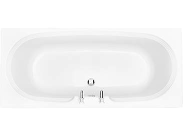 Dorchester 1800x800 White Double Ended Bath 2 tap holes Solid Skin