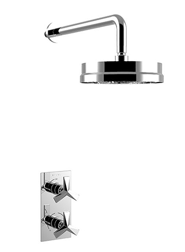 Hemsby Concealed Valve with Deluxe Fixed Head Chrome