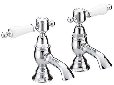 Glastonbury Basin Taps Chrome