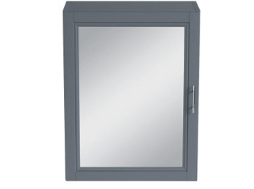 Caversham 500mm Mirror Wall Cabinet Graphite