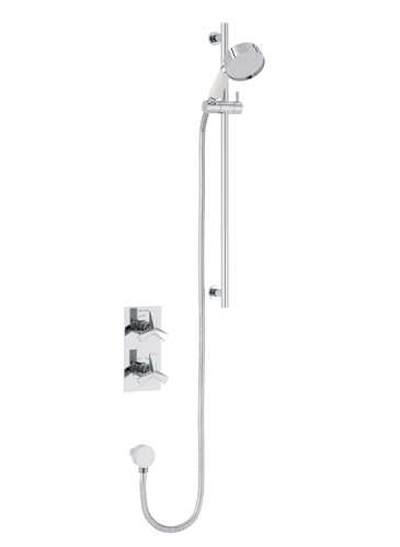 Hemsby Concealed Valve with Deluxe Flexible Kit Chrome