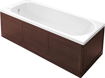 Heritage Bath End Panel 750mm Walnut