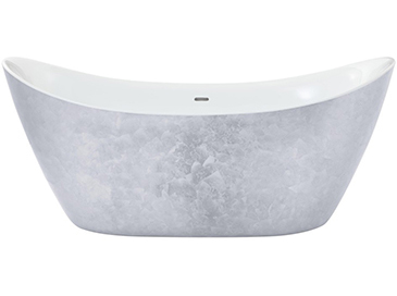 Hylton Freestanding Acrylic Bath Stainless Steel Effect