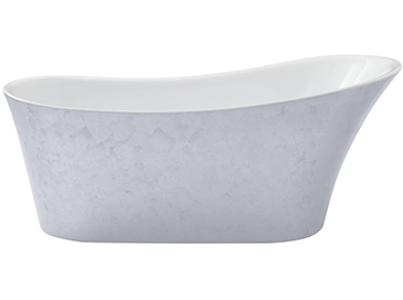 Holywell Freestanding Acrylic Bath Stainless Steel Effect