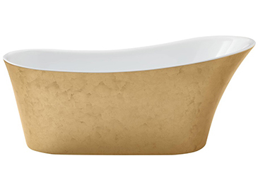 Holywell Freestanding Acrylic Bath Gold Effect