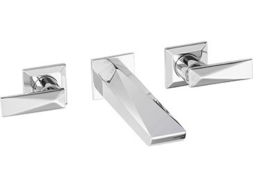 Hemsby 3 Hole Wall Mounted Basin Mixer Chrome