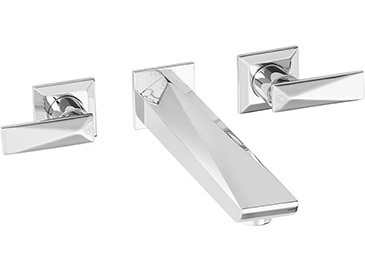 Hemsby 3 Hole Wall Mounted Bath Filler Chrome