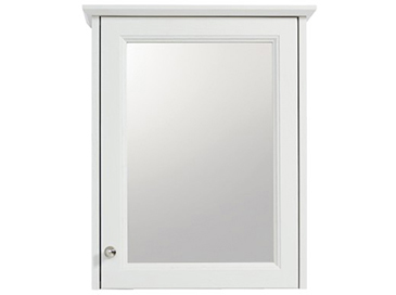 Caversham 1 door mirror wall cabinet White Ash