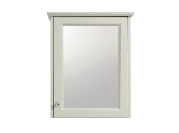 Caversham 1 door mirror wall cabinet Oyster
