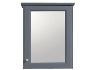 Caversham 1 door mirror wall cabinet Graphite